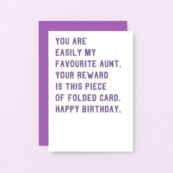 Happy Birthday Card For Aunt Diy