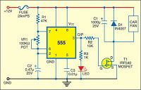 Electrical and Electronics Engineering: Car fan speed controller