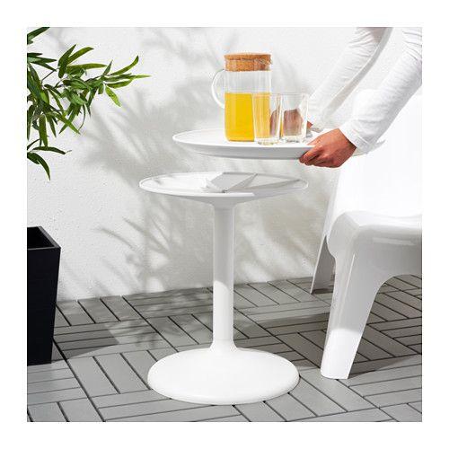 Ikea ps sandsk r tavolino vassoio da esterno bianco - Tavolino esterno ikea ...