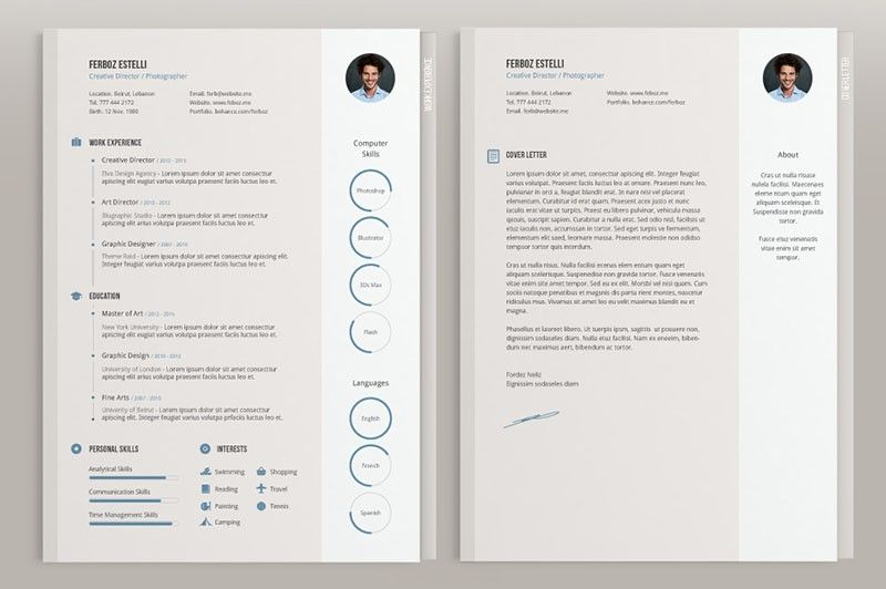 Free Minimal Cv Template  Design Resources    Cv