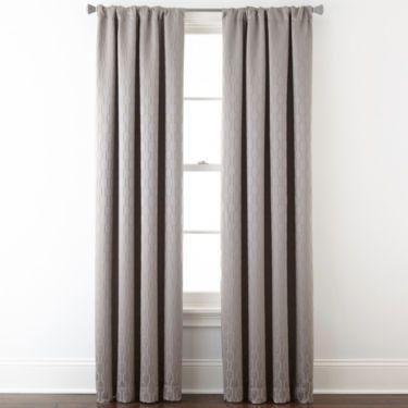 Jcp Studio Luna Rod Pocket Blackout Lined Curtain Panel Panel