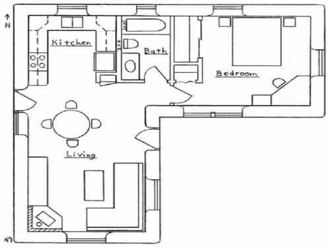 l shaped kitchen layout floor plans | Small house floor ...