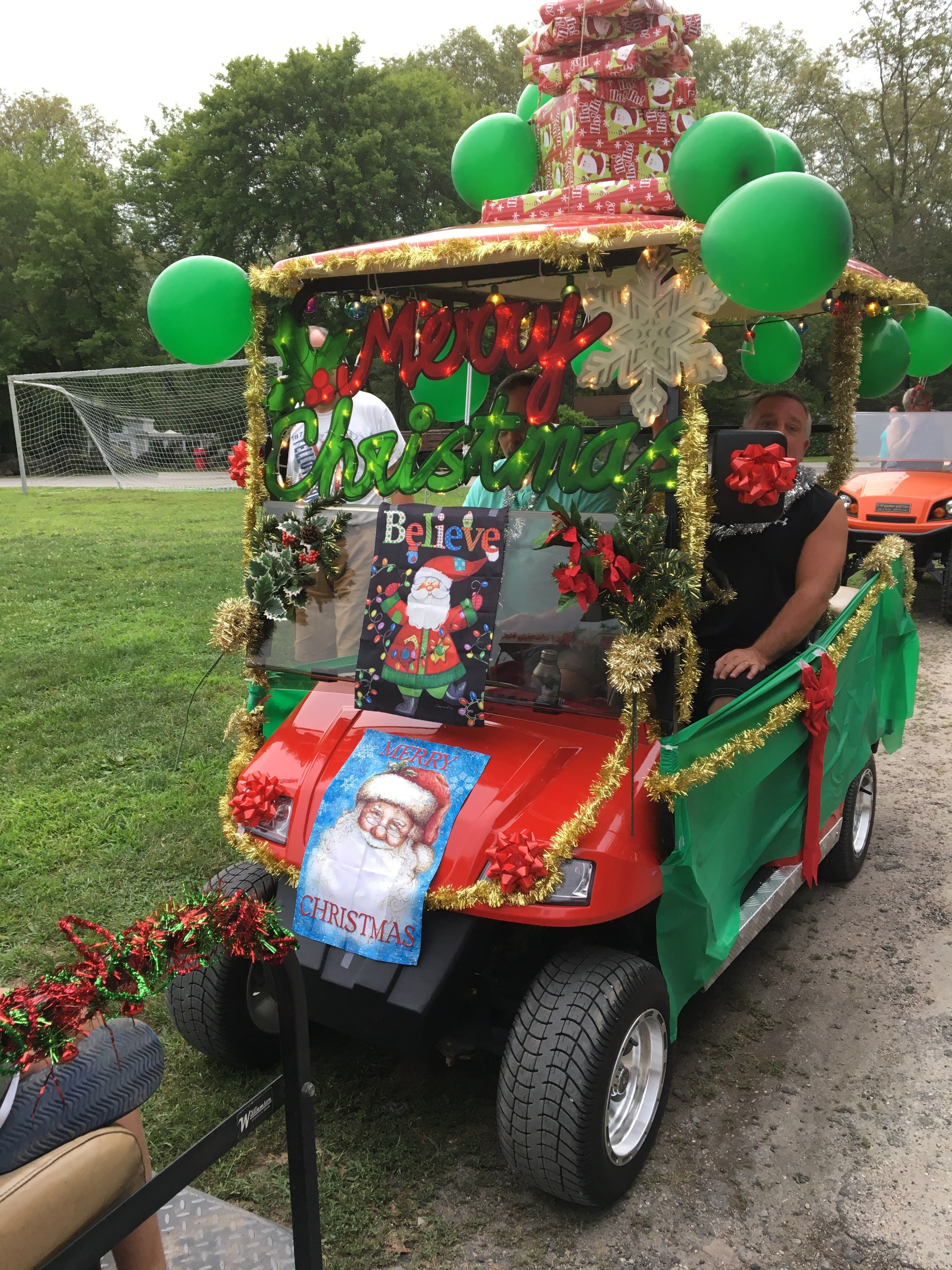 Pin By Alma Torres On Christmas Christmas Golf Christmas In July Golf Cart Decorations