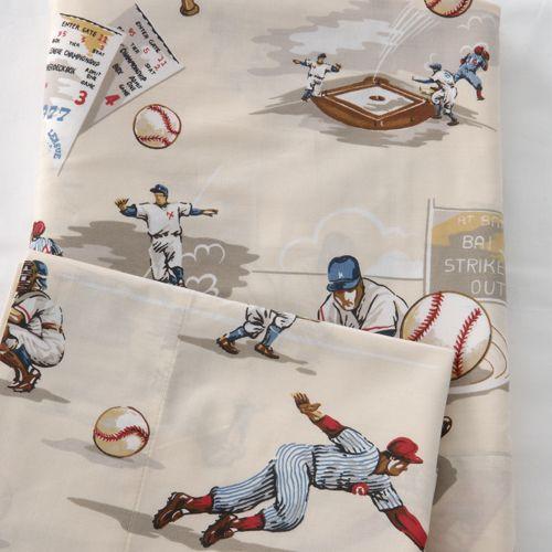 World Series Sheet Set Baseball Bed Vintage Baseball