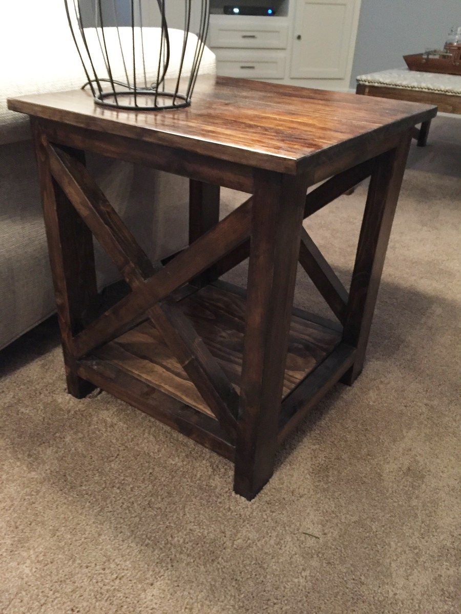 Here\'s an idea for simple end tables that you can make yourself ...