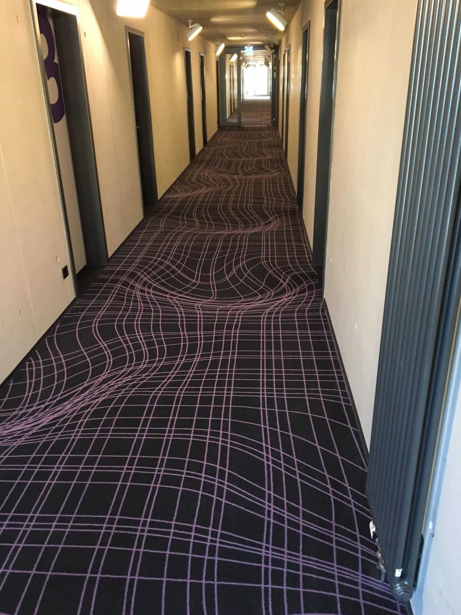 Optical Illusion Carpet In A Hotel In Cologne Germany Cool