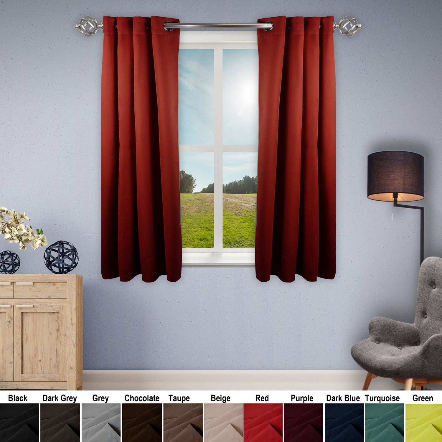 Premium Heavy Duty Room Darkening Curtain With Grommet 1 Panel