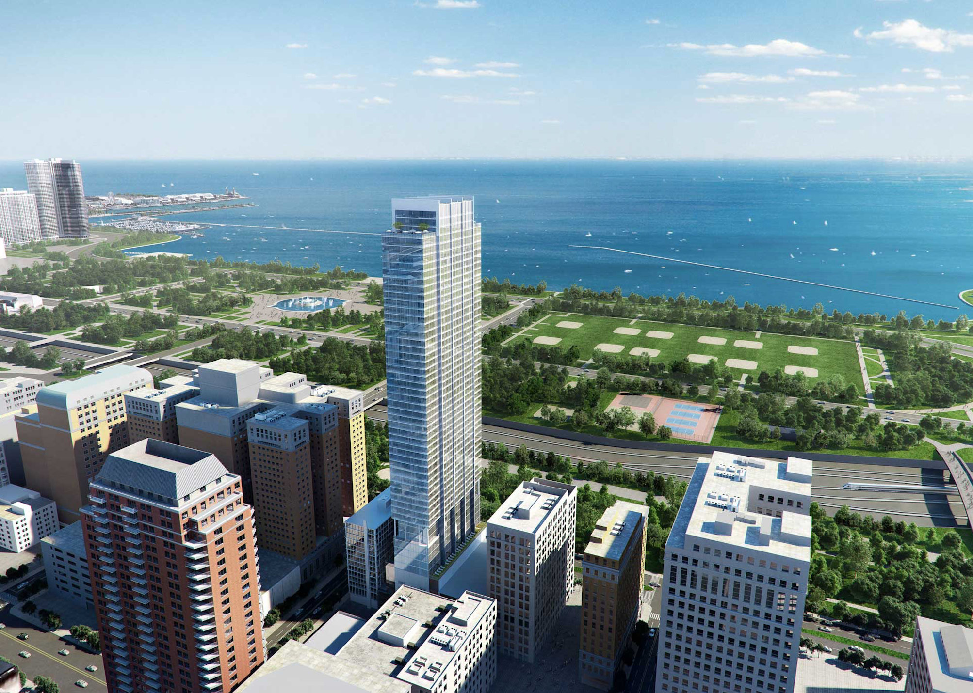 56 Story Michigan Avenue Tower Moves Forward With Images