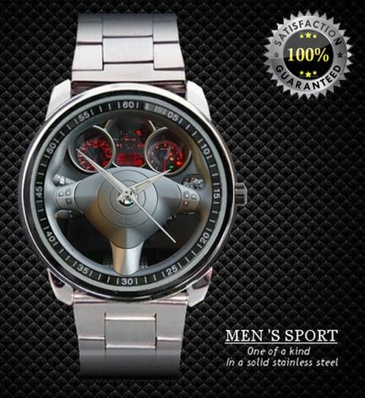 2003 Alfa Romeo Steering Wheel Men's Sport Metal Watch