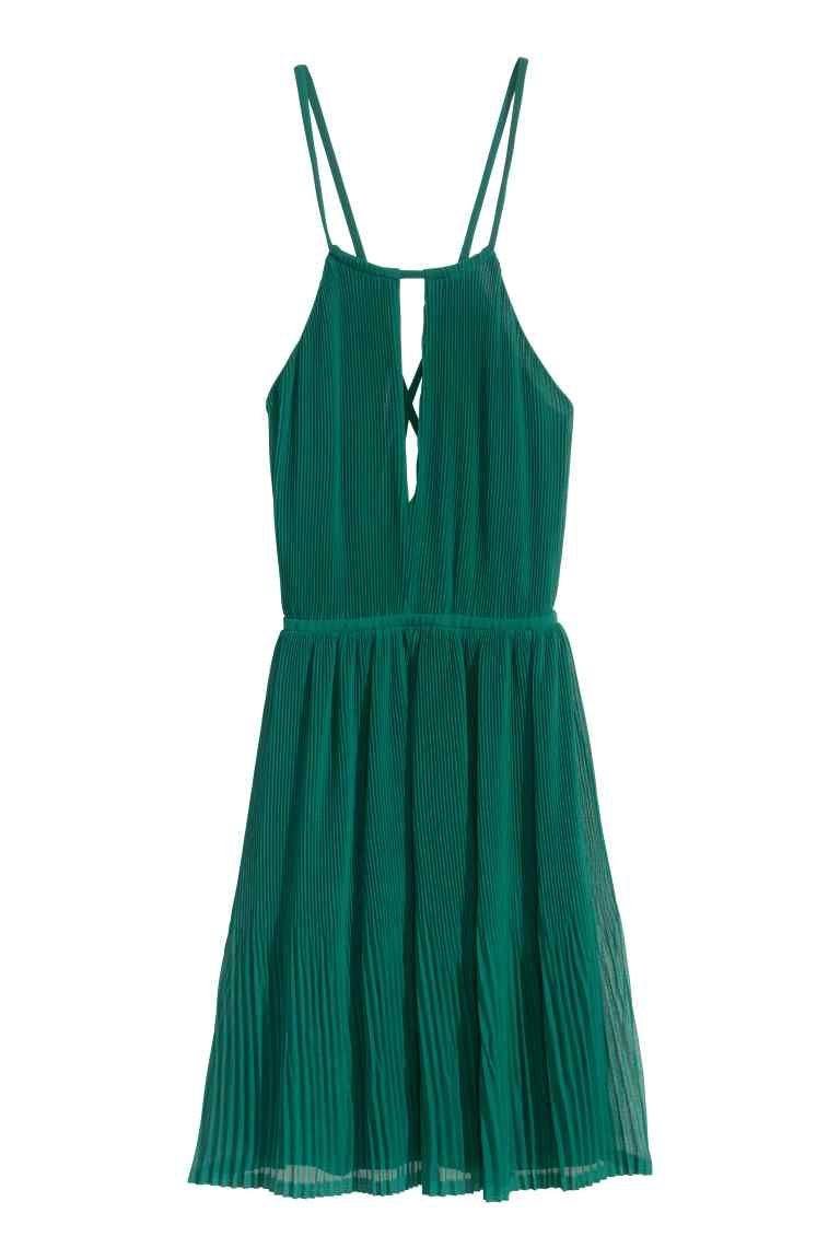 Pleated halterneck dress | H&M | Fashion Wish List - Dress/Skirt ...