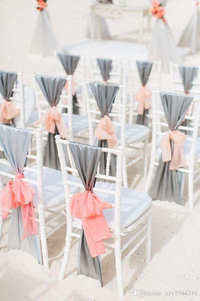 Charming 20 Creative DIY Wedding Chair Ideas With Satin Sash