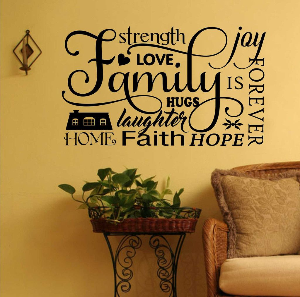Family Word Collage Decal | Vinyl Lettering | Wall Quotes | Collage ...