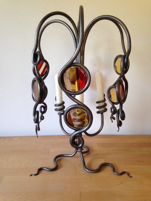 IronGlass Candle HolderASH Ironworks Quality Decorative Iron