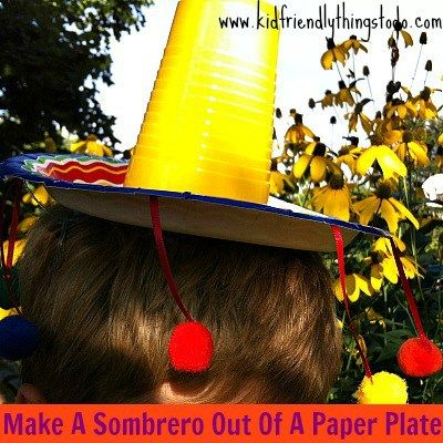 Make A Sombrero Out Of A Paper Plate & A Solo Cup!