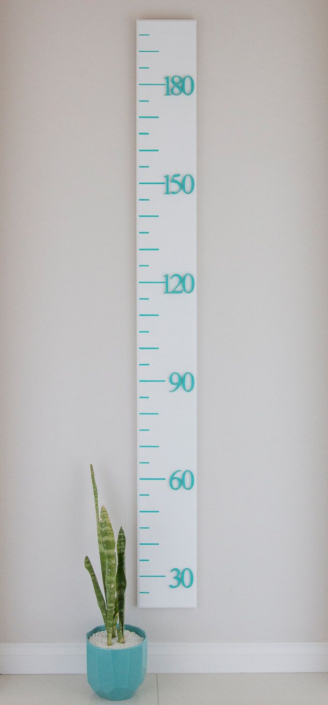 Growth Chart Ruler Timber Height Chart Metric Satin White
