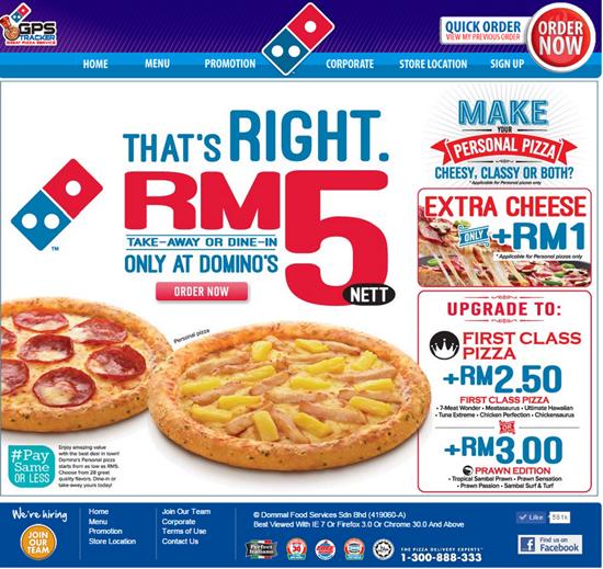 1 30 Jun 2015 Domino S Pizza That S Right Rm5 Nett Promotion