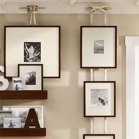 Using rope to hang picture and to hang pictures as for Rope designs and more