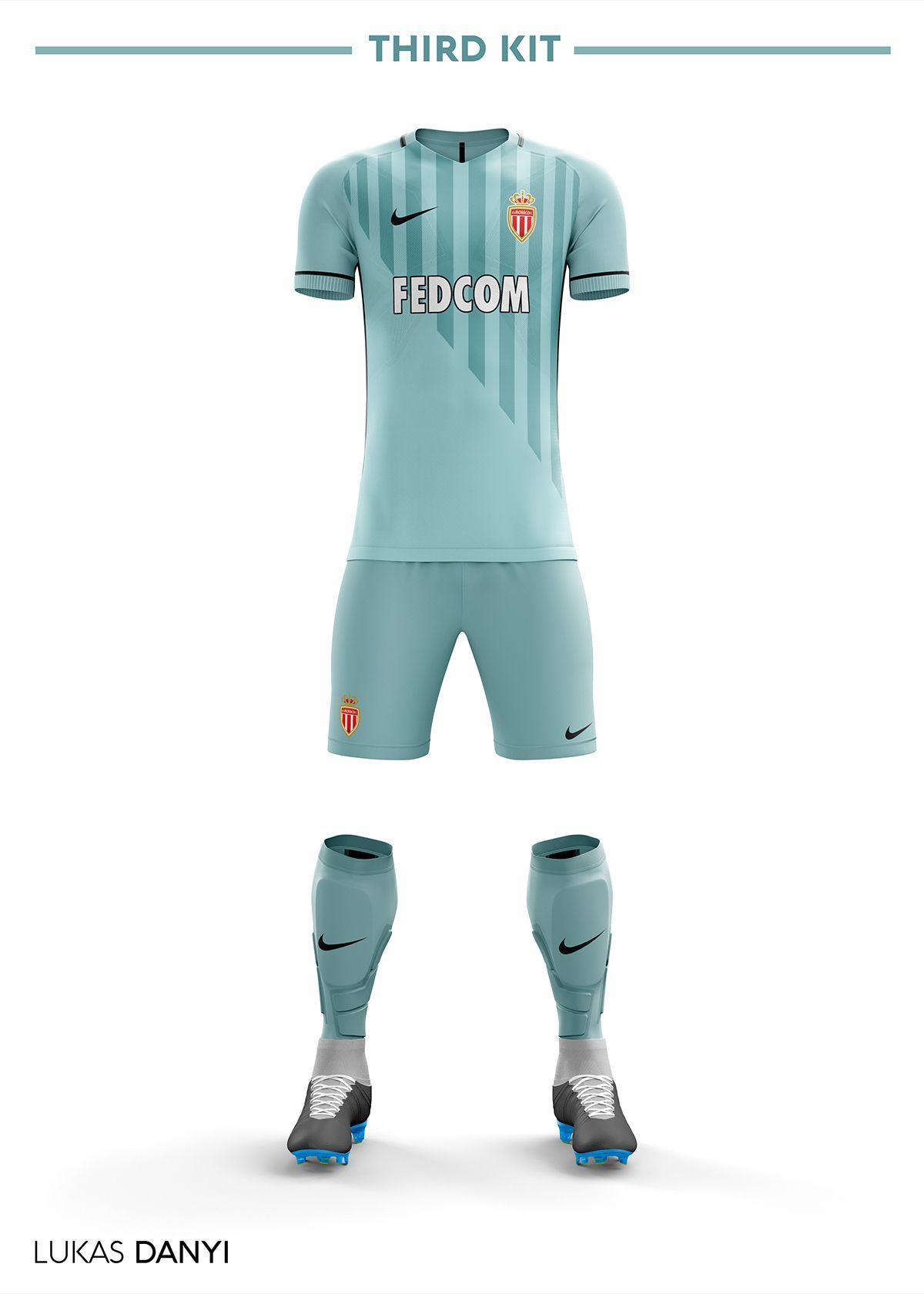AS Monaco Football Kit 17 18. on Behance  7ca45b3539a27