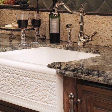 Mediterranean Spaces Black Sinks Kitchen Design, Pictures, Remodel on kitchen island with farm sink, kitchen nook with storage seat, kitchen window trim ideas,