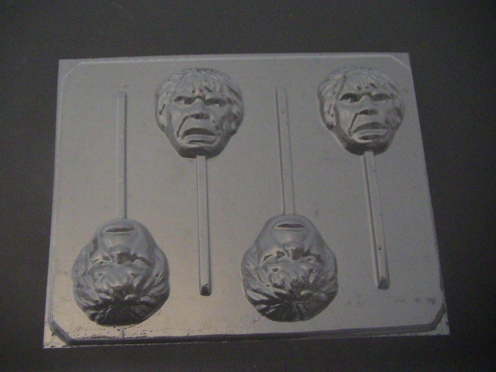 124sp Green Hunky Man Face Lollipop Mold