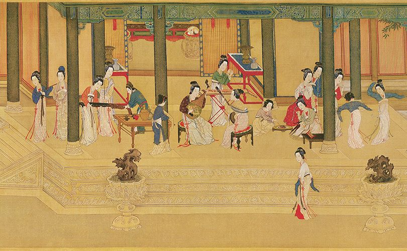 Qiu Ying Spring Morning In The Han Palace In 2020 Painting