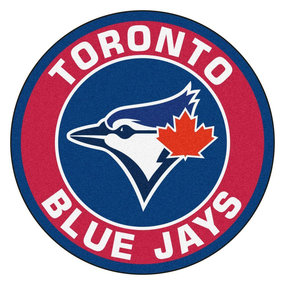 Fanmats Mlb Toronto Blue Jays Red 2 Ft X 2 Ft Round Area Rug In 2020 Toronto Blue Jays Blue Jays Mlb Teams