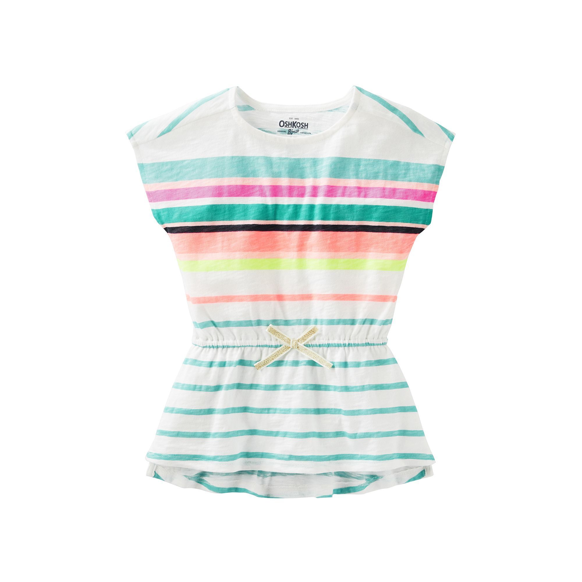 7e256cc0506c Girls 4-8 OshKosh B gosh® Multi-Stripe Short Sleeve Tunic