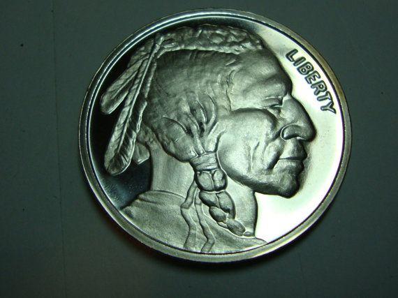 Indian Head Buffalo Silver Bullion Coin One Troy Ounce Ms Bu Condition