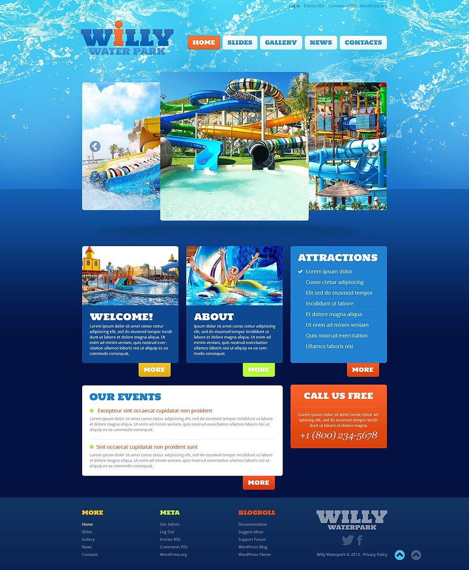 Amut Water Park WordPress Themes Template Item Picture