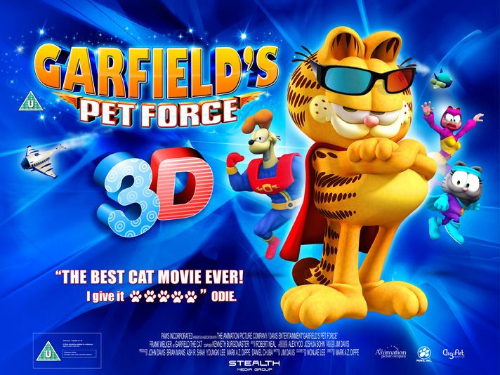 Garfield Pet Force 3d Movie Poster Http 3dtvreviewsnow Com Cat Movie Force Movie Pets