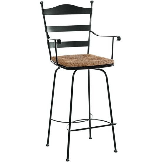 Charleston Forge Ladder Back Swivel Barstool With Arms Cf C472