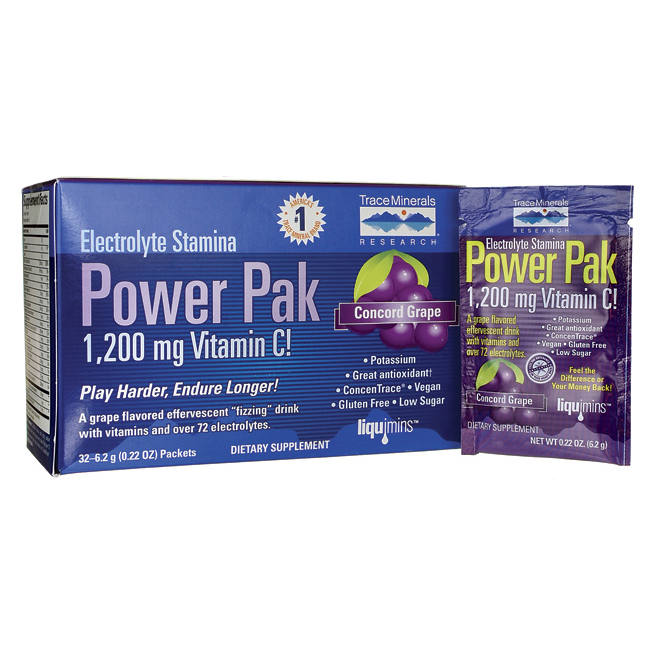 Electrolyte Stamina Power Pak  Concord Grape, 32 Pkts AED224.00