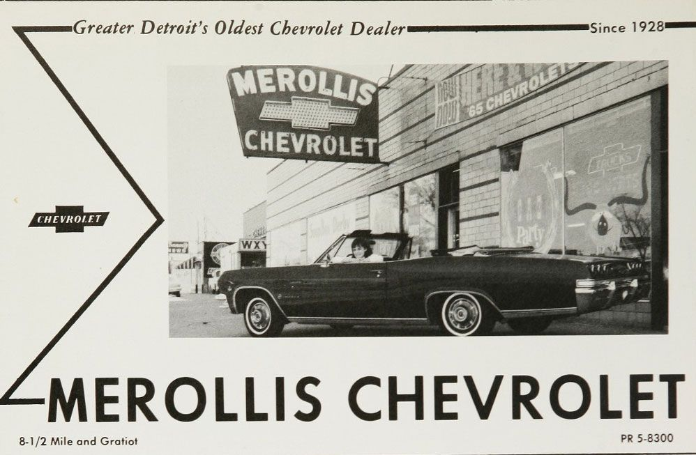 1960's Merollis Chevrolet Dealership, Detroit, Michigan