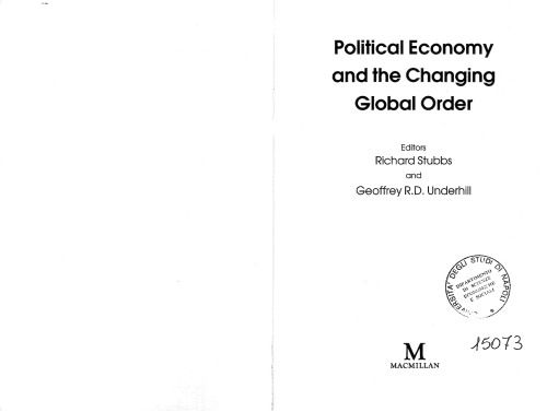 Library Genesis: Richard Stubbs, Geoffrey R.D. Underhill - Political Economy and the Changing Global Order