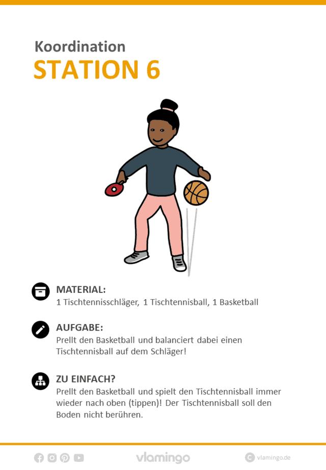 Koordination – 36 koordinative Übungen / Stationen für den Sportunterricht