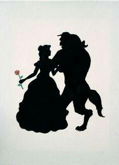 Schone Und Das Biest Disney Prinzessinnen Silhouette Disney Silhouetten Disney Kunst