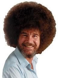 Bob Ross In Reality He Had Straight Hair But Once He Started To