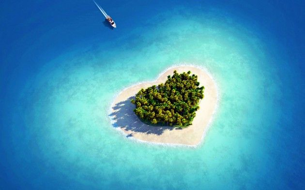 beautiful heart island wallpaper
