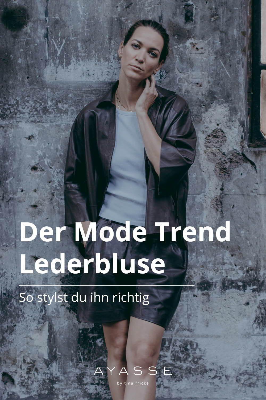 Das Lederhemd Die Beste Alternative Zur Lederjacke Styling Tipps Bluse Hemd