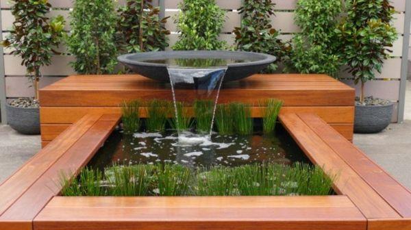 Décoration de jardin moderne avec bassin aquatique | Plans d\'eau ...