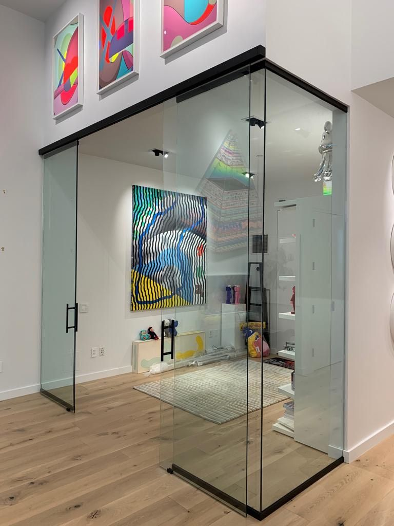 Glass Partition Walls System By Crystalia Glass Llc Glass