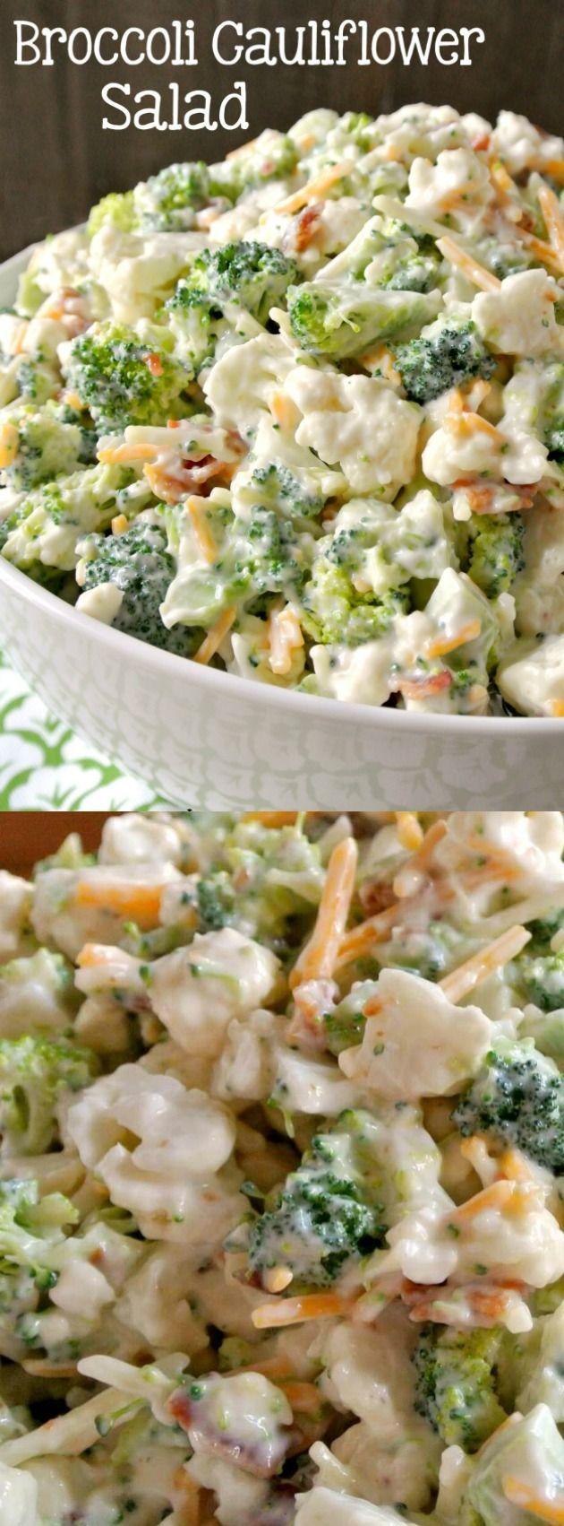 Deliciously Sweet Broccoli Cauliflower Salad