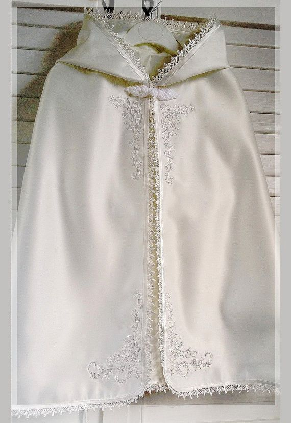 c1f422155 Modern Christening Gowns for Girls. Baby Baptizm Baptism Christening cape  in white or ivory by cosytot