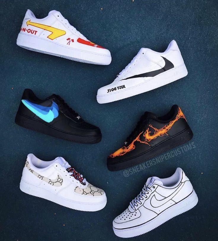 ideen in 2020 | Bemalte schuhe, Sneakers mode, Nike air schuhe