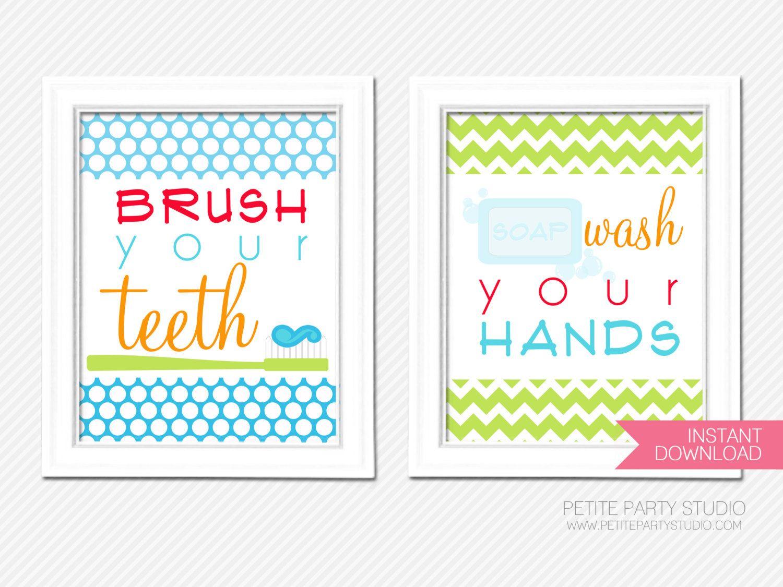 printable art prints happy hygiene printable bathroom art by petite party studio 1800
