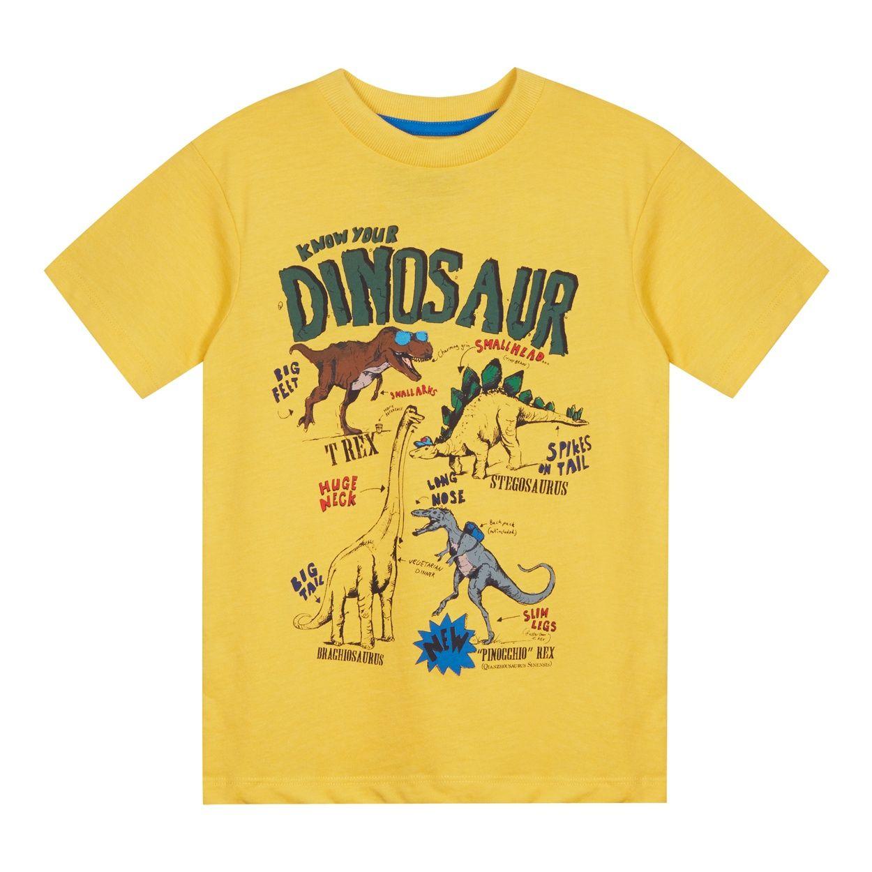 Boy S Yellow Dinosaur T Shirt At Debenhams Com Shirts T Shirt Boys T Shirts [ 1250 x 1250 Pixel ]