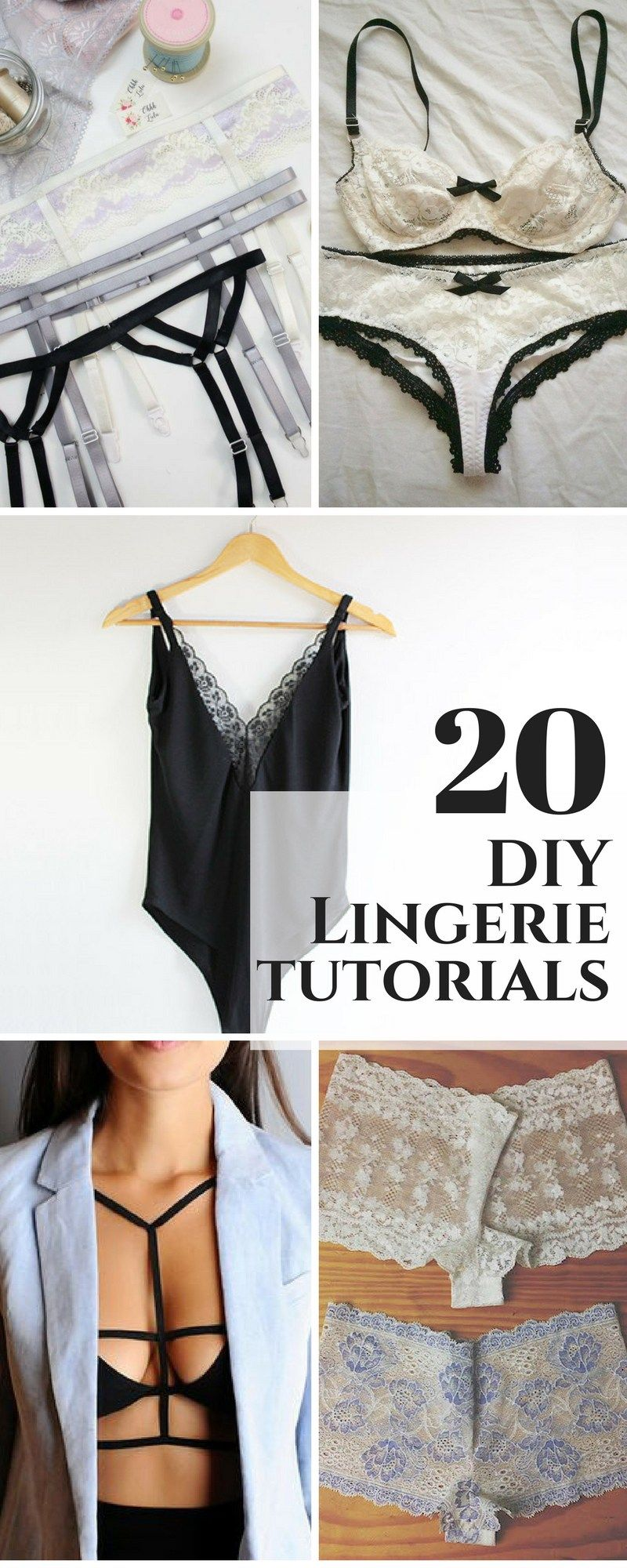 15 DIY Lingerie, Bras, and Panties to Try in 2019 - Creative Fashion Blog -   19 diy Clothes tutorial ideas