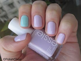 Mint + Pink. Polish Chest: essie - go ginza and mint candy apple