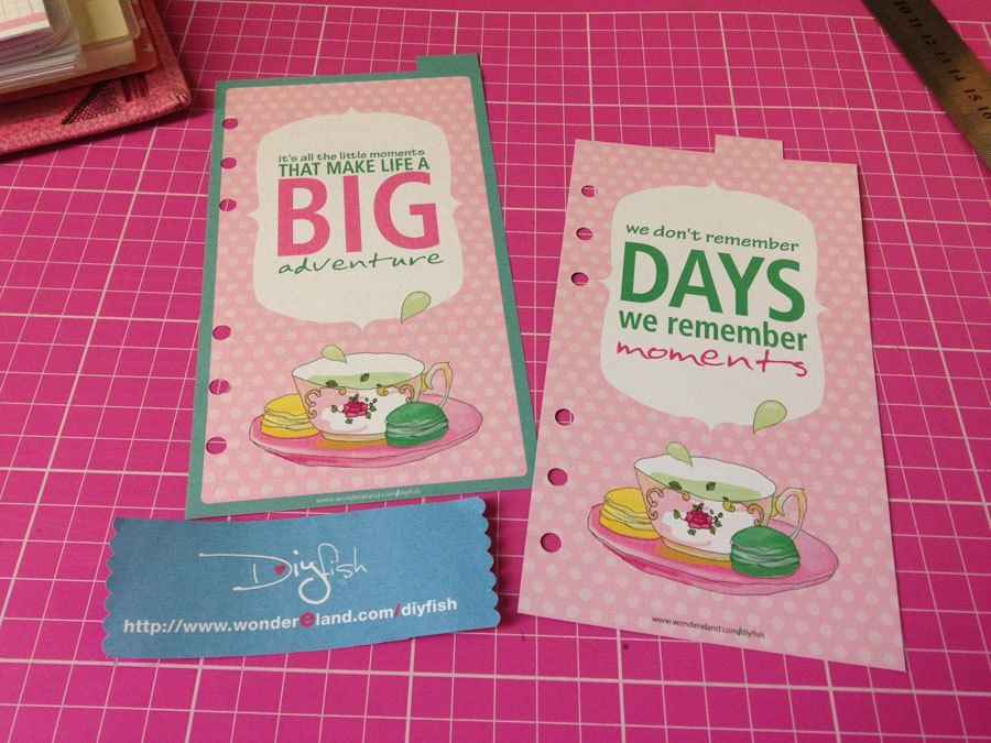 I've designed some divider pages with Tea Time Theme which you can check out…