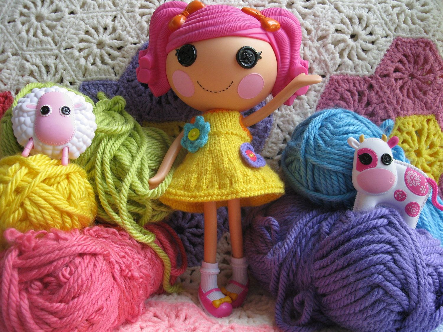Lalaloopsy Doll Knitted Dress Pattern PDF Email Download. via Etsy ...